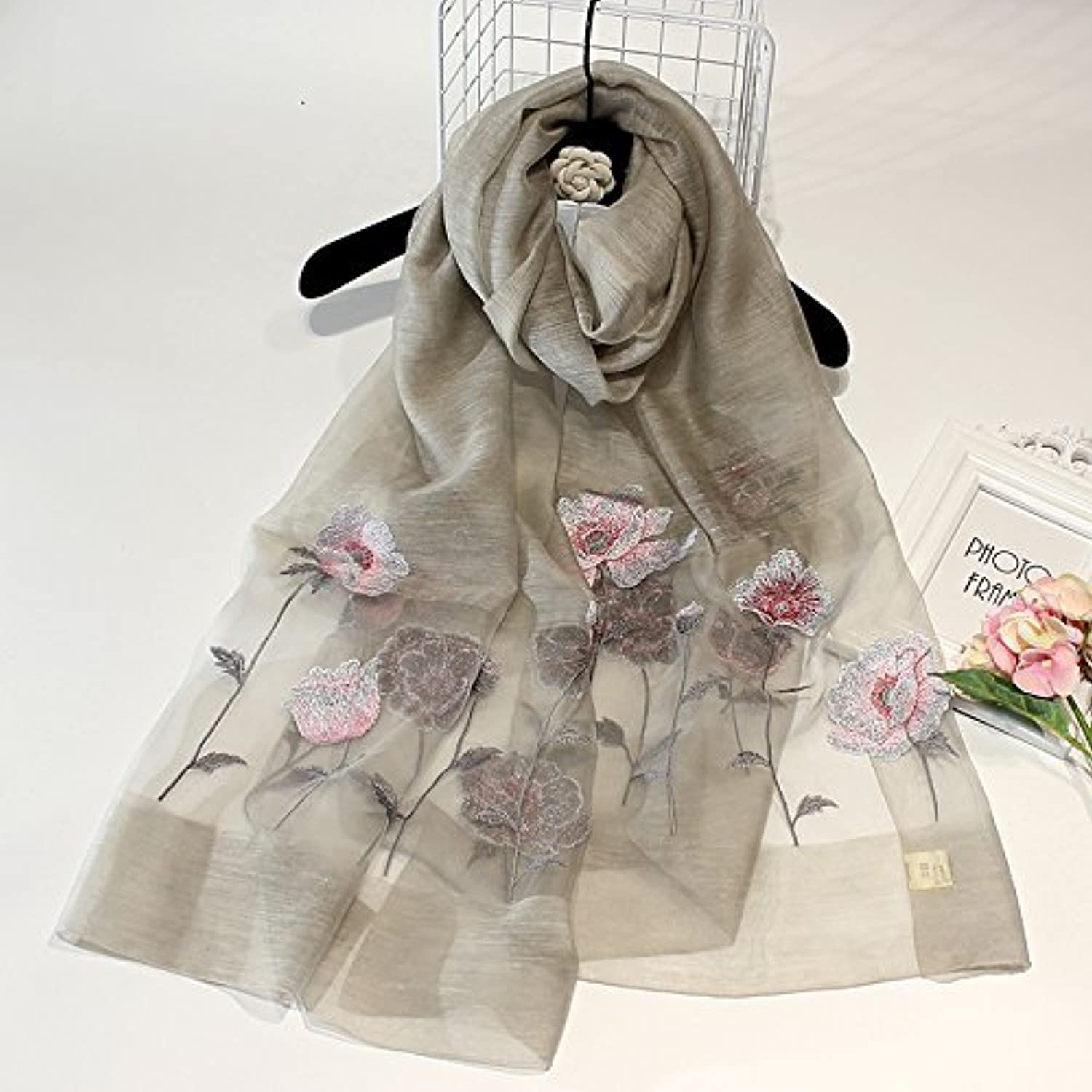SED ScarfEmbroidered Shawls Silk Embroidered Scarves Scarves Winter and Winter Sun Towels Imitation Cashmere Scarf Female Autumn and Winter Korean Students Knitted Shawl Long