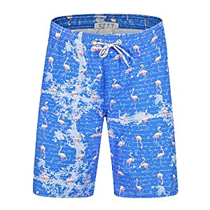 APTRO Men's Quick Dry Swim Trunks with Pockets Swimwear Beach Board Shorts