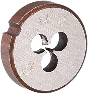 uxcell スレッドダイ 丸型ダイス 右手マシンスレッドダイ ネジダイツール HSS (高速スチール) ピッチM1.2 M1.2x0.25