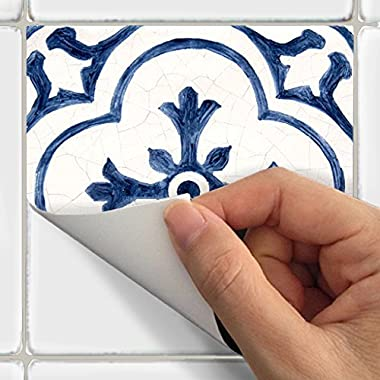 Tile Stickers Antique Dutch 40pc 4x4in Peel and Stick for kitchen and bath BW002-4