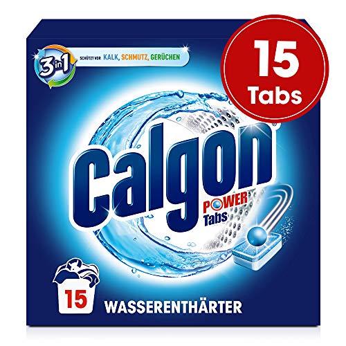 Calgon 3in1 Tabs, Wasserenthärter gegen Kalk & Schmutz in der Waschmaschine, 1er Pack (1 x 15 Tabs)