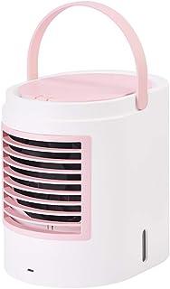 TXC- Mini aire acondicionado ventilador de enfriamiento aerosol de escritorio dormitorio recargable pequeño estudiante pequeño ventilador escritorio de su hogar aire acondicionado usb enfriador de air