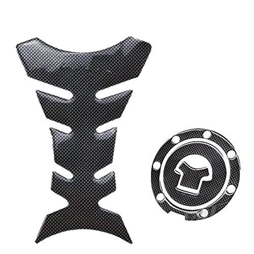 Kit Protection de Peinture de Protection de Réservoir, MoreChioce 2 Pièces Tampon Autocollant Protection Réservoir Moto Noir Autocollant Réservoir Anti-Rayures Compatible avec Réservoir Moto
