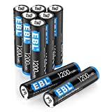 EBL - Lote de 8 pilas AAA/LR03 AAA 1,5 V ultra potente, tensión estable.