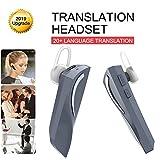 JINLO Headset Auriculares Traductores Wireless Bluetooth Voz En Tiempo Real Mismo Tiempo para Comerc...
