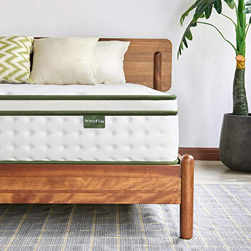 Inofia Sleep 5FT King Mattress,25cm Hybrid Innerspring Mattress in a Box,9 Zoned Support Mattress Gives Advanced Pressure Point Relief,the HOPE Collection