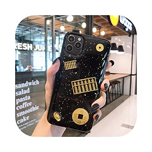 Carcasa para iPhone 11, diseño de bingle con purpurina dorada para iPhone 11 Pro Max 6 6Splus 8 Plus 7 Plus X XS Max XR epoxy -1-iPhone 4G