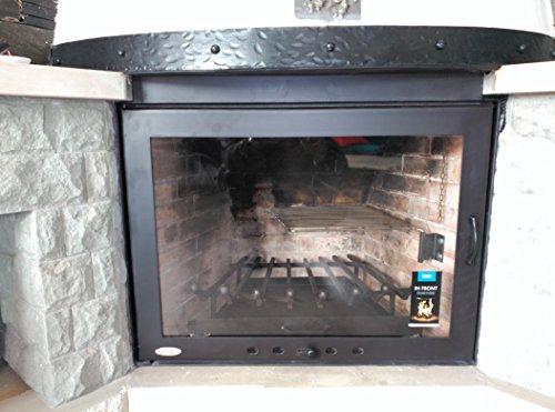 HotFireDoor Puerta para Chimenea con Cristal vitrocerámico y regulador de Entrada de Aire ¡¡¡ Sin Obras !!!, Varios tamaños.