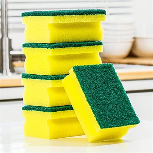 SqSYqz (45 Piezas) Esponjas para Fregar Resistentes - Esponja para Fregar Platos de Cocina, fregaderos y baños - con Almohadilla para Fregar Que no huele, Esponja para Fregar