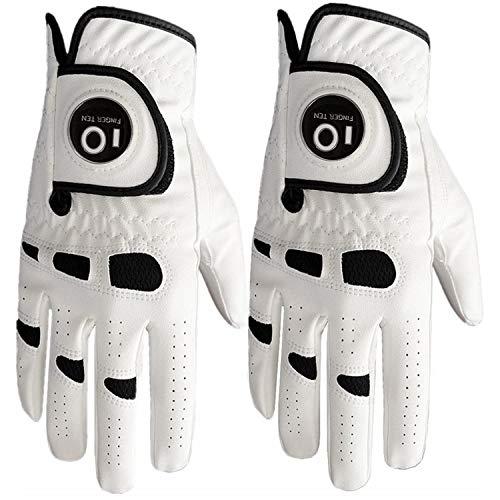 FINGER TEN Men's Golf Glove Right Hand Left with Ball Marker