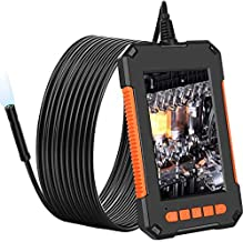Upgraded Borescope Inspection Camera, 1080P HD Digital Endoscope Camera 4.3 Inch LCD Screen Inspection Camera, 16.5ft Waterproof Snake Camera with 8 Bright LED Lights Gift for Men