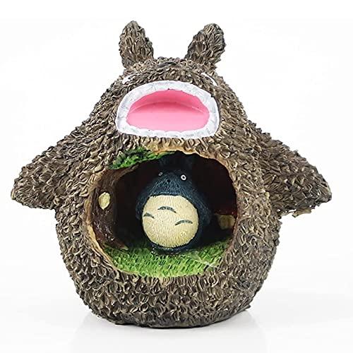 Totoro - Luz LED de noche de resina estrellada para dormitorio, decoración del hogar, regalo para niños y bebés (color: B)