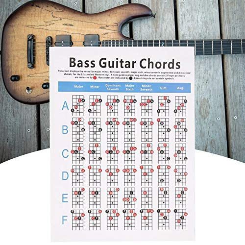 Gitarren-Akkord Fingersatz Übungsdiagramm Gitarre Lernwerkzeug Akkord Übungsdiagramm Bassgitarre Akkord 2 Typ Gitarren Übungszubehör Werkzeug Gitarre Akkord S