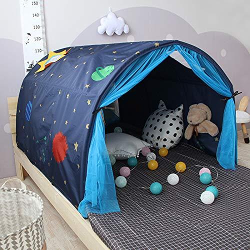 OldPAPA Kinder Bettzelt, Kinderzelt Spielen Zelt Kriechender Tunnel Innen Traumzelt Kinderbett für Kleinkind Jungen Mädchen