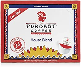 Puroast Low Acid Coffee Single-Serve Pods, House Blend, High Antioxidant, Compatible with Keurig 2.0 Coffee Makers (24 Count)