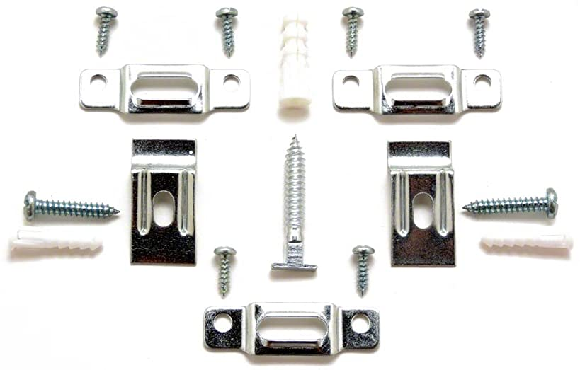 T-Lock security hangers locking hardware set for (100) wood or metal picture frames plus 3 FREE WRENCHES (2 regular, 1 extra-long)!
