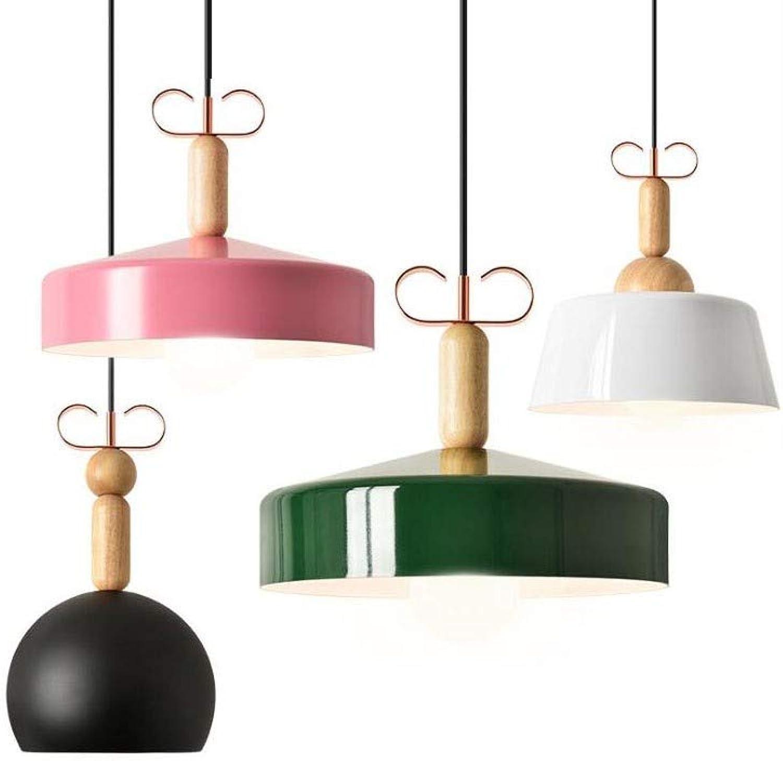 L Yang Moderne minimalistische LED Kronleuchter kreative Persnlichkeit Macaron Aluminium Single Head Deckenleuchte Kunst Runde Restaurant, Schlafzimmer Beleuchtung [Energieklasse A +]