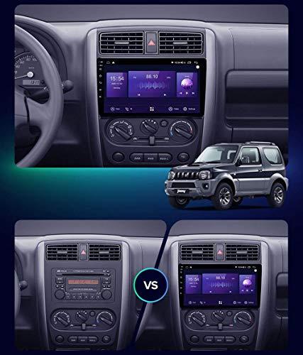 Android 10.0 Car Stereo, Radio para Suzuki Jimny 3 2005-2019 Navegación GPS Unidad Principal de 9 Pulgadas Reproductor Multimedia MP5 Receptor de Video con 4G / 5G WiFi DSP RDS Carplay