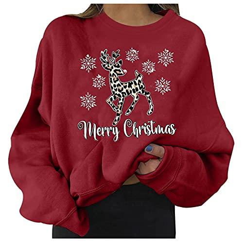 Camiseta de Navidad 2021 para mujer, diseño de copo de nieve de manga larga para mujer, 14#, XL