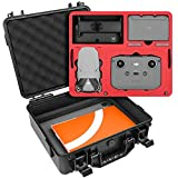 SYMIK A310-MM2DL Dual Layer Waterproof Hard Carrying Case for DJI Mavic Mini 2 Drone/Fly More Combo with Standard RC or Smart Controller; Fits Tablet Holder, Landing Pad & iPad; Rugged Protection