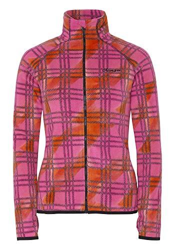 Chiemsee Fleecejacke mit Kontrastnähten L Pink/Orange CHK