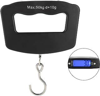 吊りはかり ミニ吊り下げスケール 携帯式デジタルスケール10g~50kg LED表示 風袋引き/単位切替/オートパワーオフ 大計量 旅行 スーツケース用 荷物秤 お釣り小型