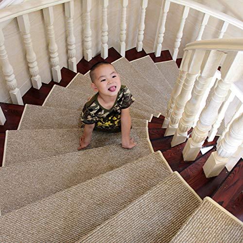 Tapis Escalier muet, Bande de roulement Auto-adhésive d'escalier lavables antidérapants, avec Boucle Magique (Couleur : Set of 1, Taille : 75×24+3cm)