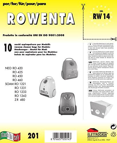 RW 14-10 SACCHI CARTA PER ROWENTA