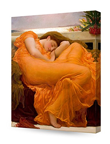 DECORARTS - Flaming June, Frederic Leighton Classic Art Reproduction. Giclee Canvas Prints Wall Art for Home Decor 20x16