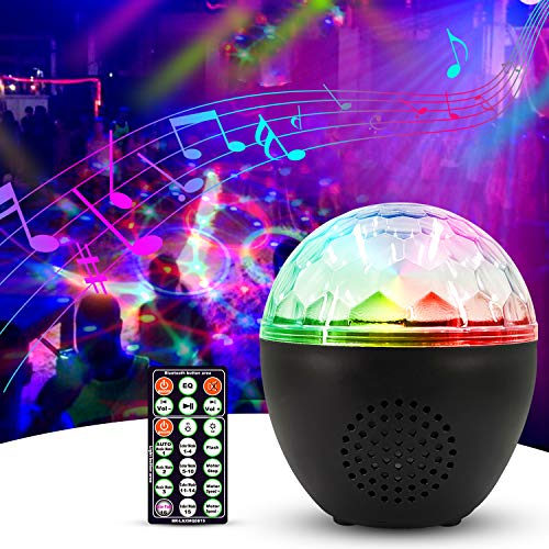 Price comparison product image Anpro Disco Lights Party Light - Sound Activated Party Lamp with Bluetooth Speaker and 1.2M USB Cable,  Remote Control Party Lights for Kids Birthday,  Christmas Day,  Home Party