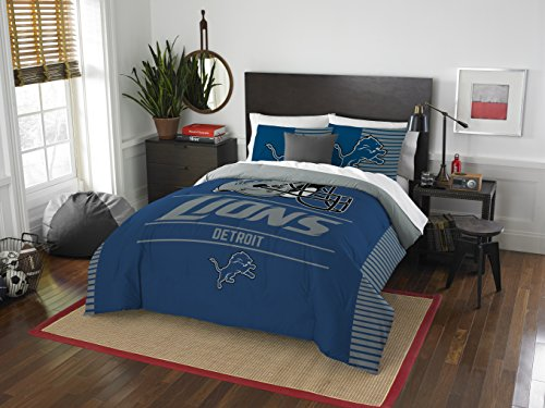 The Northwest Company NFL Detroit Lions Draft Full/Queen Comforter and 2 Sham Set