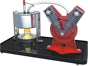 Sunnytech Mini Hot Live Steam Engine Model Education Toy Kits DIY (V-Type)