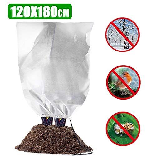 Zaloife Winterschutz für Pflanzen, Pflanzenabdeckung Winter Protect Kälteschutz Frostschutz Gartenvlies Abdeckvliesz (1 Stück 120 * 180)