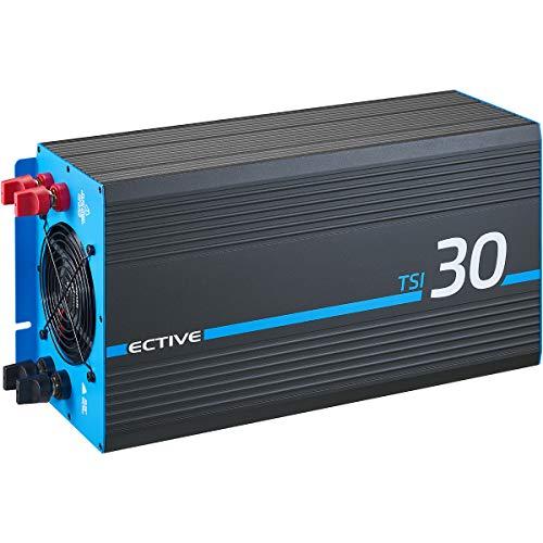 ECTIVE 3000W 12V zu 230V Reiner Sinus-Wechselrichter TSI 30 mit integrierter NVS- und USV-Funktion