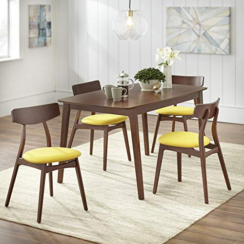 TMS Archer 5 Piece Dining Set, Grey (Yellow)