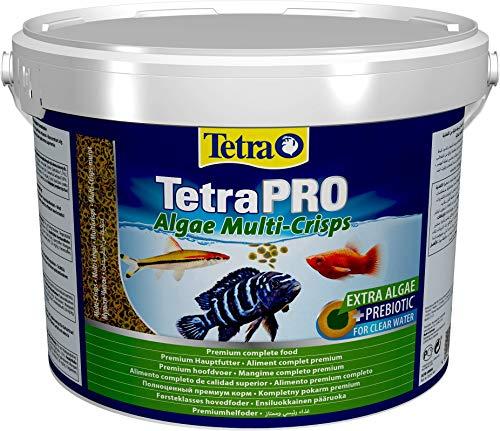 Tetra Pro Algae Premiumfutter (für alle tropischen Zierfische, mit Algenkonzentrat zur Verbesserung der Widerstandskraft, Vitaminstabilität und hoher Nährwert, Spirulina-Alge), 10l