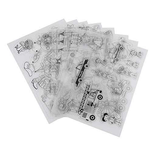 8 Stücke Schrumpfen Kunststoff Schrumpfen Papier Schrumpffolie Kunststoff Schrumpffolie Schrumpfbare DIY Kunsthandwerk Werkzeug für Kinder Geschenk(Jungenstil)