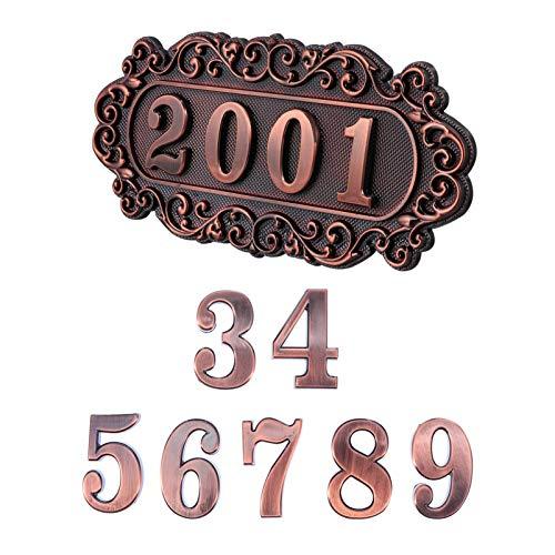 Homoyoyo Placa de Dirección Placa de Pared con Números de Buzón 3D 0-9 Número Autoadhesivo Pegatinas Muestra Tu Dirección Y Nombre de Calle