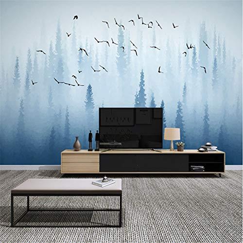 Wuyyii 3D Abstract Paars Bloem Vlinder Behang Muurschildering Muurschildering Bloemen Fotobehang Muur Papier 400x280cm