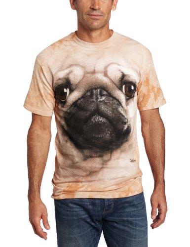 The Mountain Pug Face Adult T-Shirt, Tan, Medium