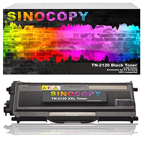1 SinoCopy XXL Toner für Brother TN-2120 TN-2110 Brother HL-2140 MFC-7340 MFC-7320 DCP-7030 DCP-7040 DCP-7045 N HL-2150 N NR HL-2170 WR N W MFC-7320 W MFC-7440 W N MFC-7840 W TN2120 TN2110