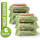 Boogie Wipes, Wet Wipes for Baby and Kids, Nose, Face, Hand and Body, Soft and Sensitive Tissue Made with Natural Saline, Aloe, Chamomile and Vitamin E, Fresh Scent, 30 Count (Pack of 6)
