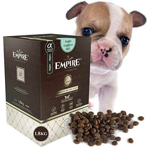 EMPIRE | Getreidefreies Hundefutter Trocken Premium |1,8kg | Welpen Kleine Rassen | 50% Frisches Wildfleisch | Hypoallergen | Glutenfrei | Ganzheitlich | 100% Natürlich | Ohne Huhn | Allergische Hunde