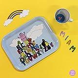 Barbapapa Petit Jour Paris BABU44 - Vassoio e tazza, per un super piccolo dej' al letto, multicolore