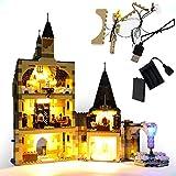 GEAMENT Kit de Luces LED para Torre del Reloj de Hogwarts (Hogwarts Clock Tower) - Compatible con Harry Potter Lego 75948 (Juego Lego no Incluido) (con Instrucciones)