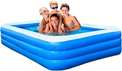 Inflatable Swimming Pools, Inflatable Kiddie Pools, Family Swimming Pool, Swim Center for Kids, Adults, Babies, Outdoor, 120''73''23 '' Perfect for Summer Outdoor Backyard Porch Garden Water Party