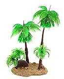 Gumolutin Plantas de Acuario Plantas de Plástico Árbol de Coco Acuático Decoración Planta Artificial Planta Planta de Plástico