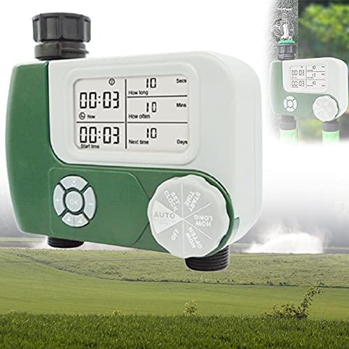 BIWASimple Reloj Riego Automatico Exterior, Fácil de Instalar Temporizador Riego, Programador Riego Jardín Temporizador, Fácil de Usar, Tiempos de Riego Flexibles para el Jardín y El Invernadero