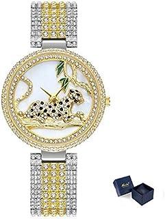 JINN-Women's Watches - Women Watches Women Luxury Brand Fashion Black Leopard Gold Watch Diamond Womens Watches Top Brand ...