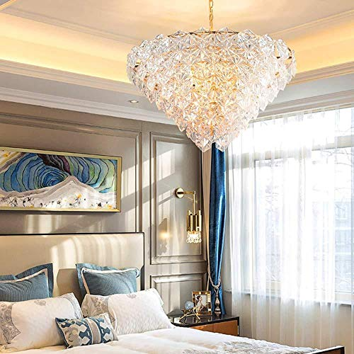 lampadari Illuminazione post-moderna in cristallo di vetro di neve soggiorno lampadario atmosfera duplex costruzione villa hop hall illuminazione